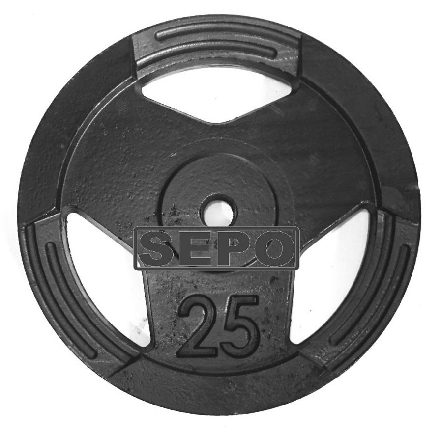 Anilha Sport Luxo - 25 Kg - Loja Portal