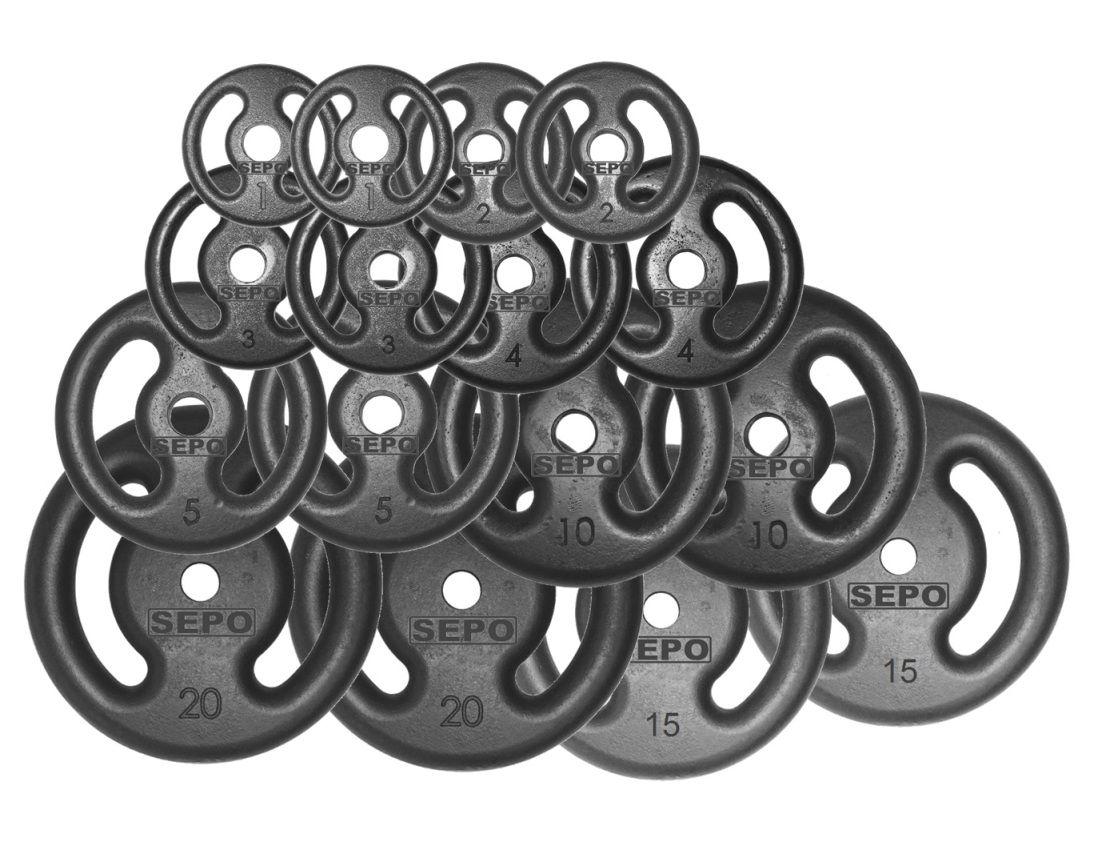 Kit 120Kg com 16 Anilhas de Ferro Fundido - Loja Portal