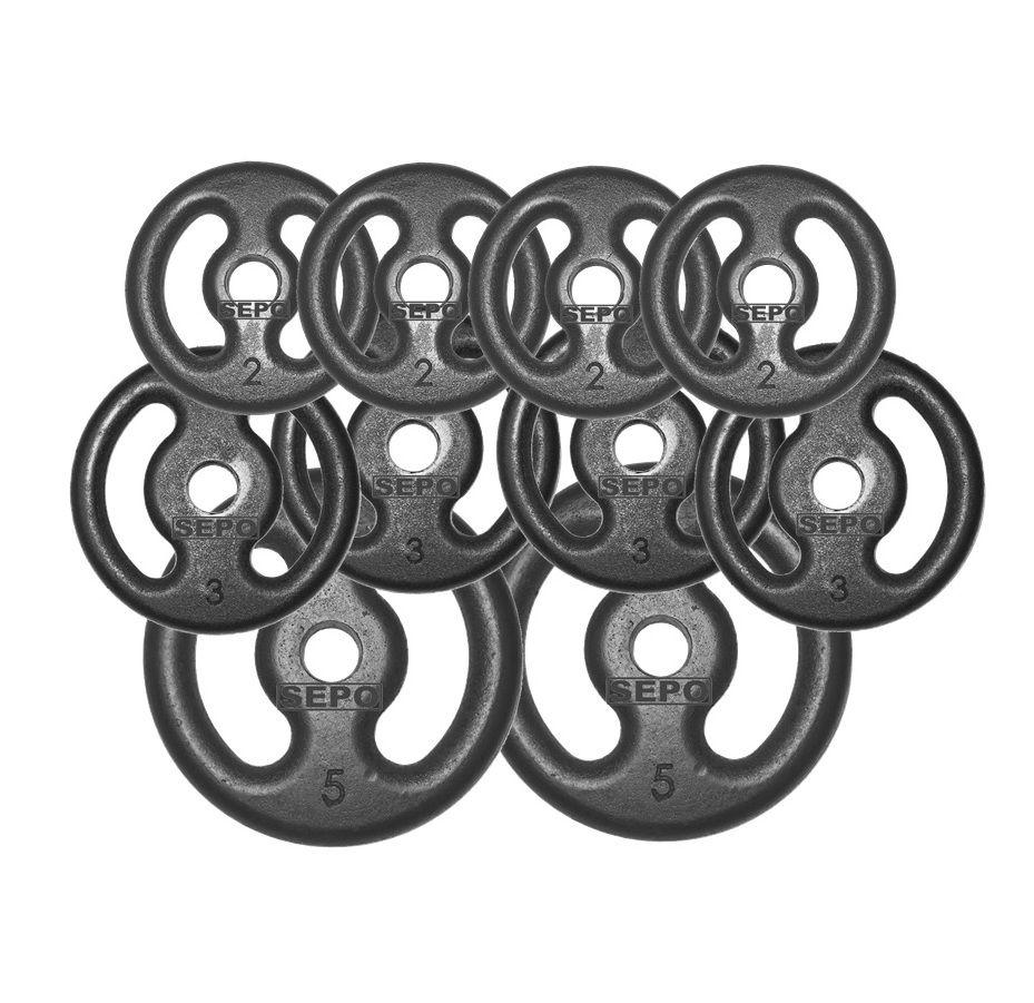 Kit 30Kg com 10 Anilhas de Ferro Fundido  - Loja Portal
