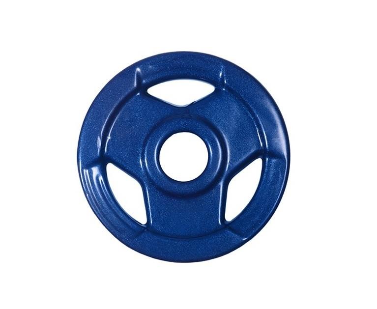 Anilha Sport Luxo Revestida - Azul - 5 Kg - Loja Portal