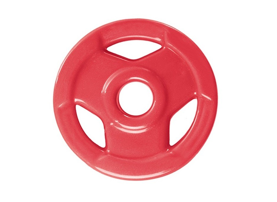 Anilha Sport Luxo Revestida - Vermelha - 1 Kg - Loja Portal