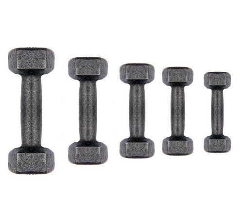 Kit Halteres Sextavado Ferro Luxo Profissional 1,2,3,4,5 Kg