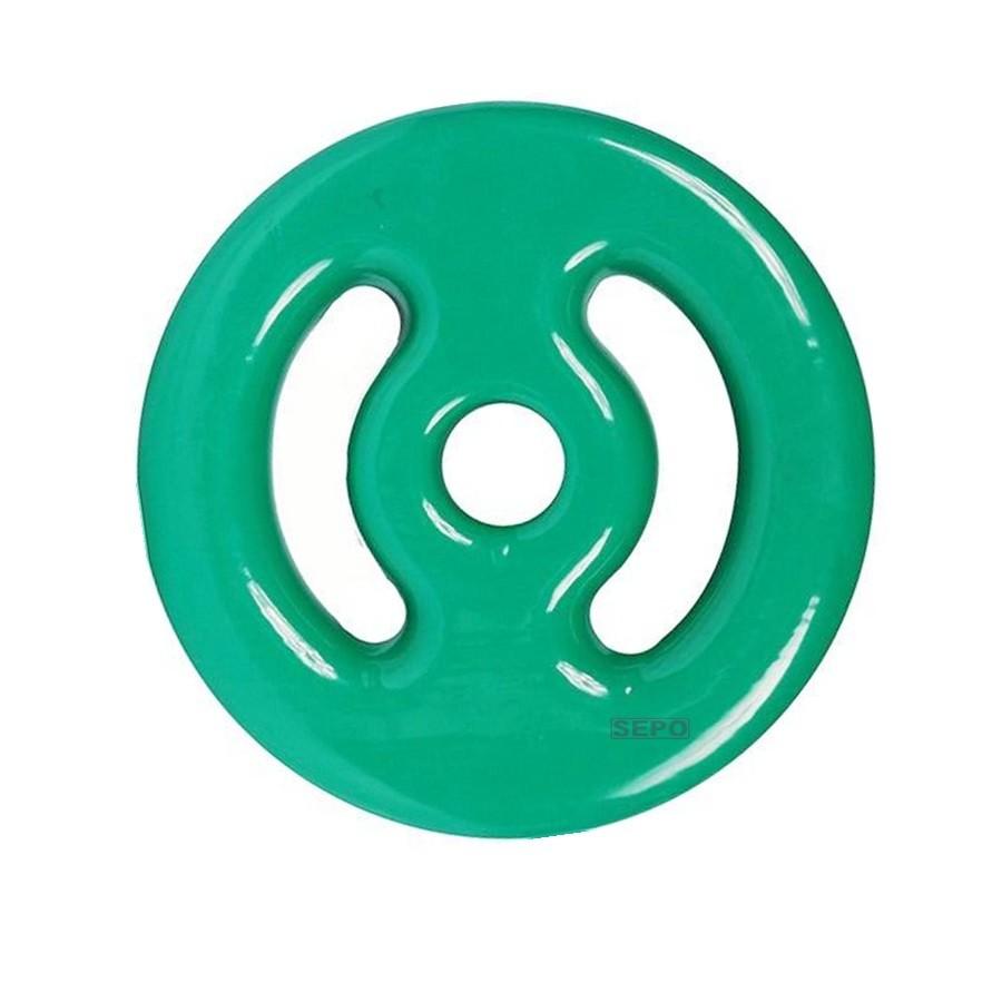 Anilha Emborrachada - Verde - 3 Kg - Loja Portal