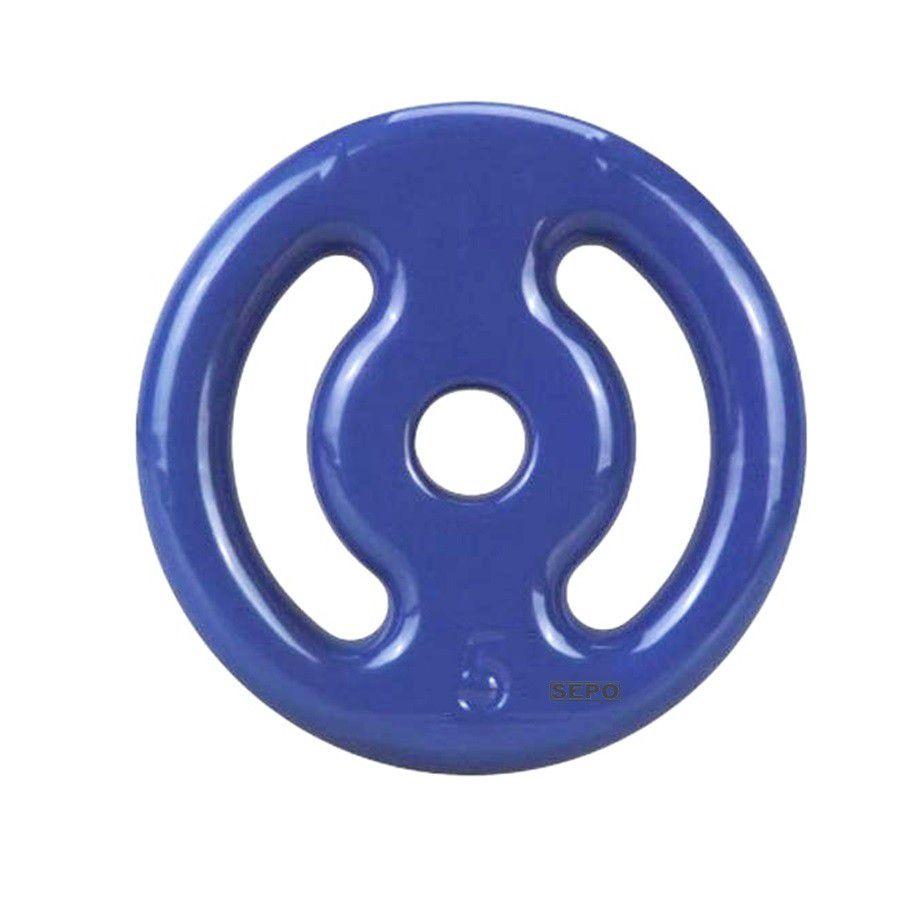 Anilha Emborrachada - Azul - 5 Kg