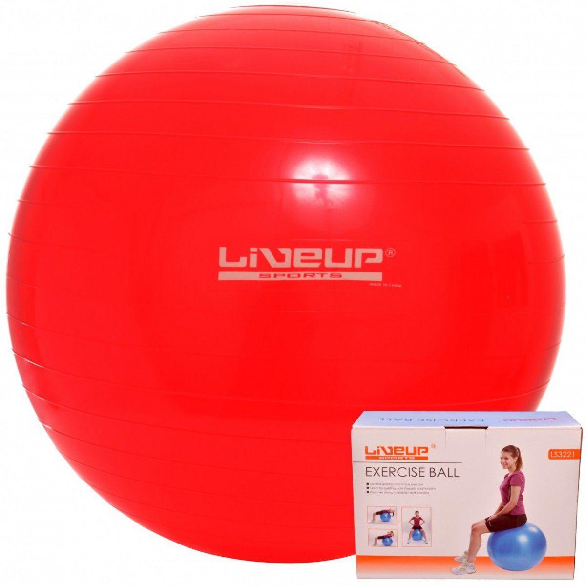 Bola Suíça Para Pilates 45Cm Live Up + Grátis Bomba Inflar - Loja Portal