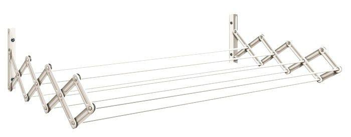 Varal Sanfonado em Aço 100cm Cor Branca - Secalux - Loja Portal