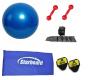 Kit Bola Suíça para Pilates, Colchonete, Tornozeleira e Par de Halteres - Loja Portal