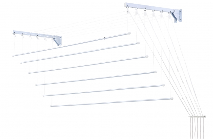 Varal Prático de Varetas Individuais em Aço 1,20m para Teto ou Parede - Secalux - Loja Portal