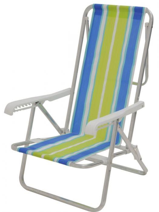 Cadeira Reclinável Alumínio 8 Posições - Mor  - Loja Portal