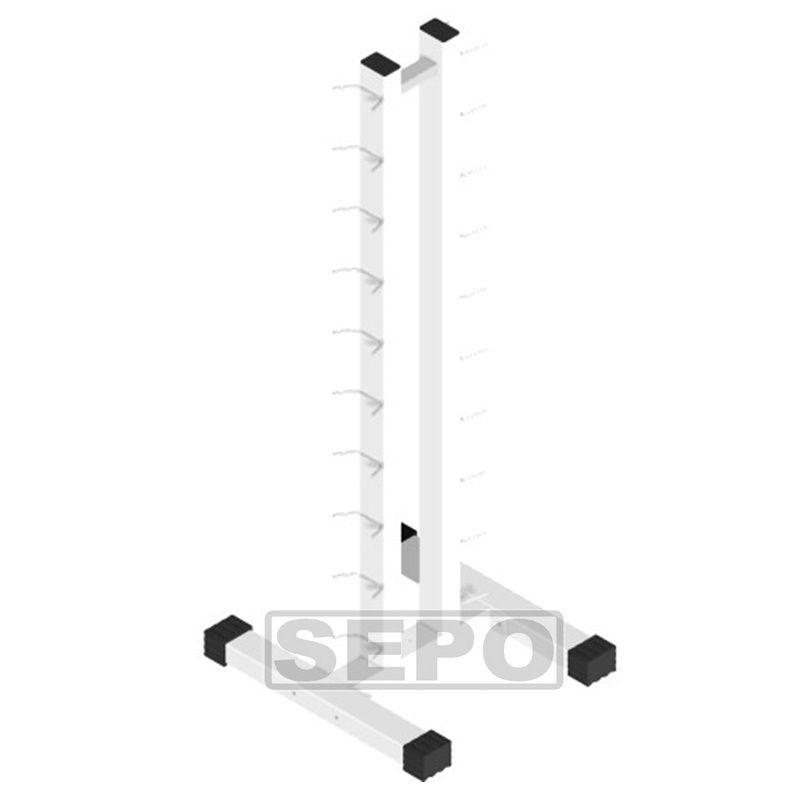 Kit C/ 20 Halteres Sextavados Ferro 1 Ao 10kg + Suporte Chão  - Loja Portal
