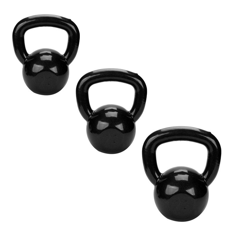 Kit Kettlebell Revestido 4Kg, 6kg e 8kg Treinamento Funcional