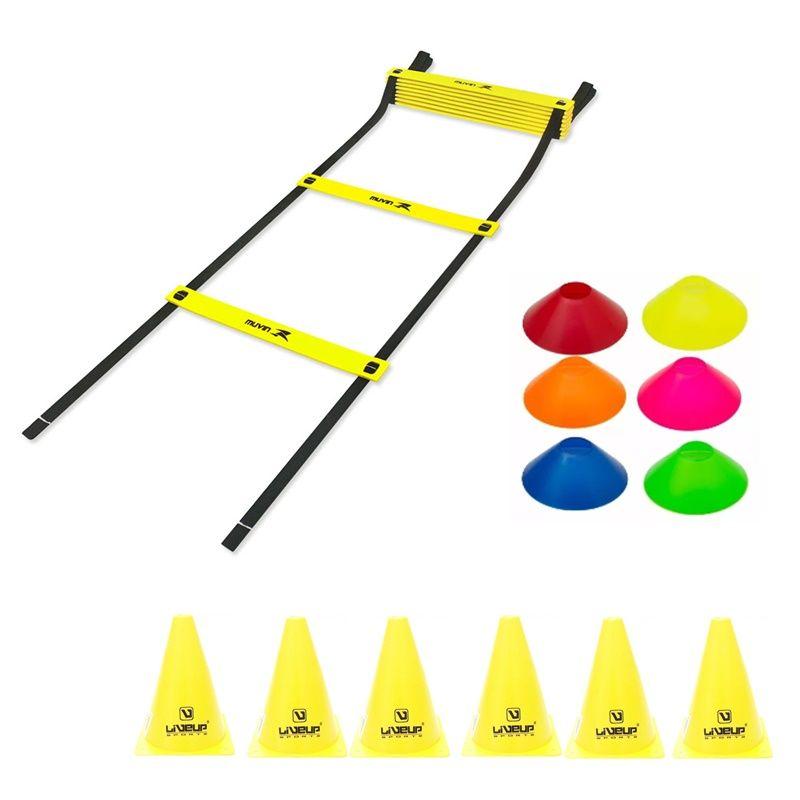 Kit Treinamento Funcional Escada Agilidade + 06 Cones + 06 Mini Cones  - Loja Portal