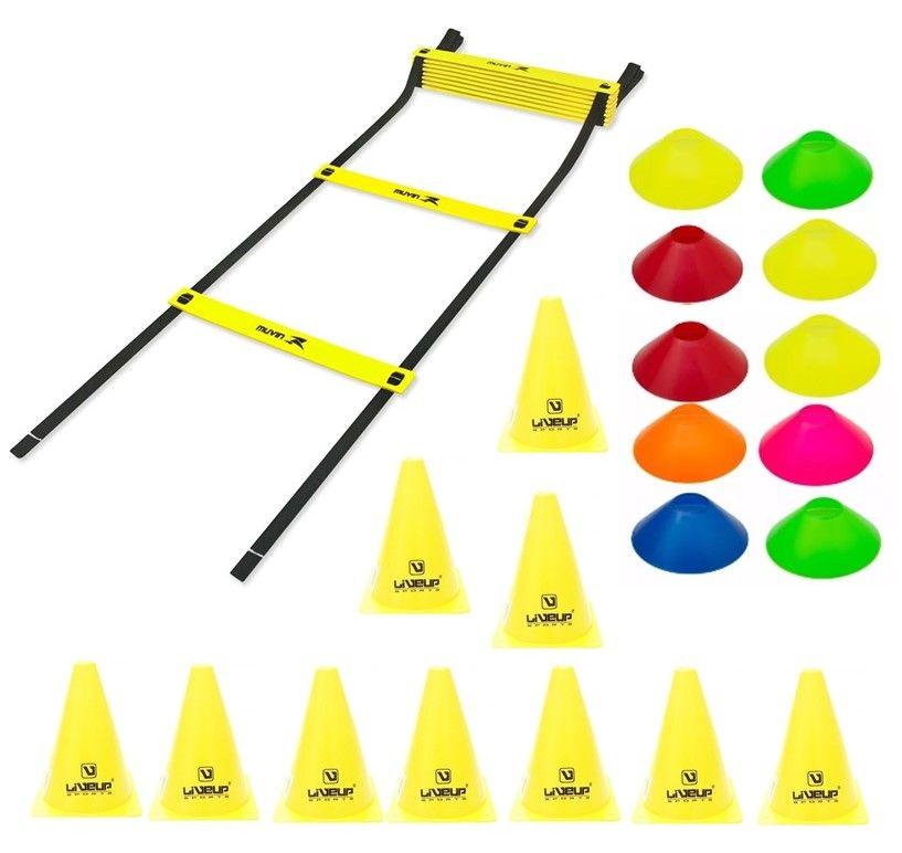 Kit Treinamento Funcional Escada Agilidade + 10 Cones + 10 Mini Cones