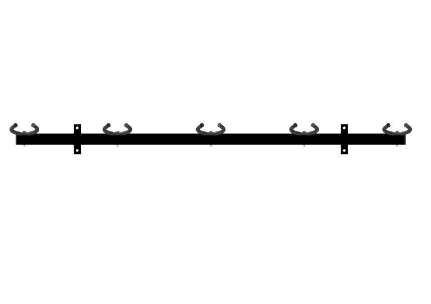 Suporte Parede Para 05 Instrumentos Para Violão, Guitarra E Baixo  - Sepo  - Loja Portal