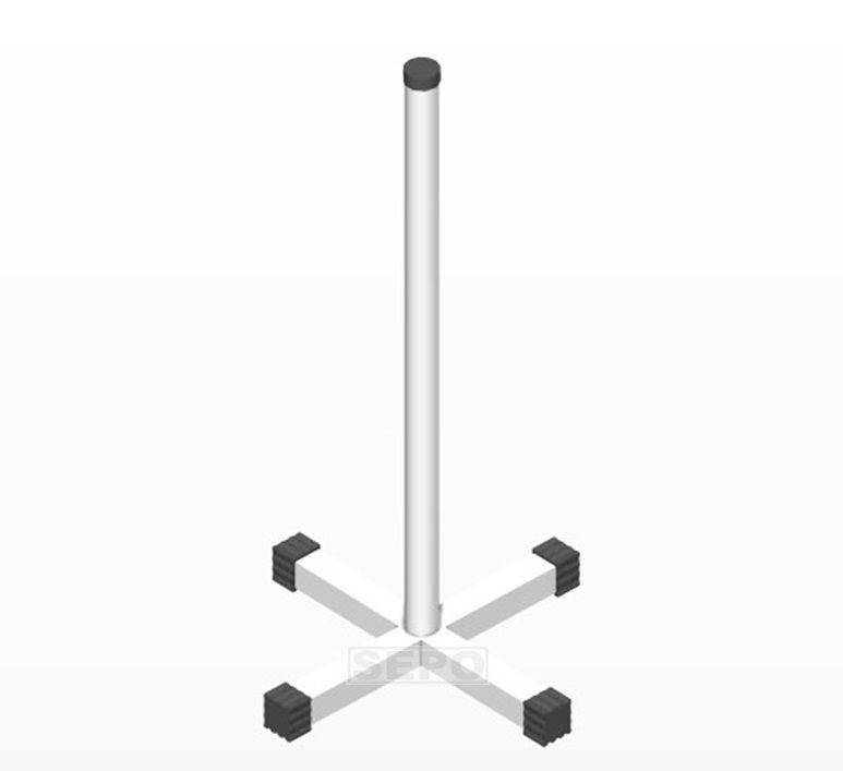 Suporte Vertical de Chão para Anilhas Furação Olímpicas