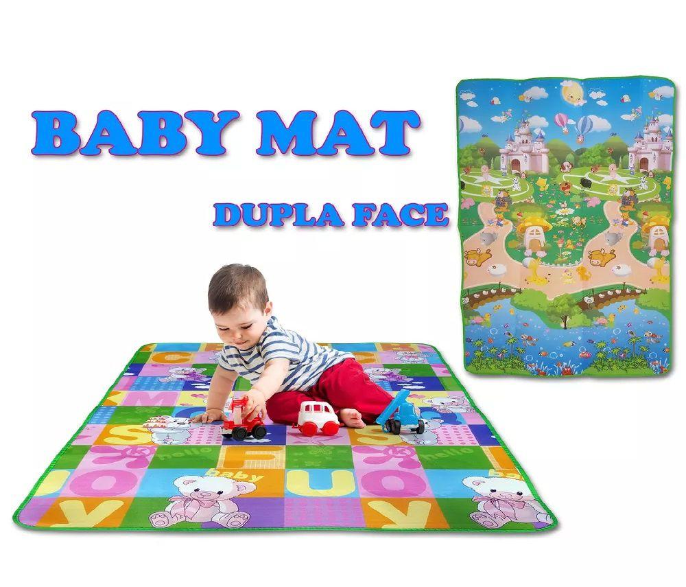 Tapete Atividades Baby Bebe Infantil Portátil Conforto G 1,80x1,20m - Loja Portal