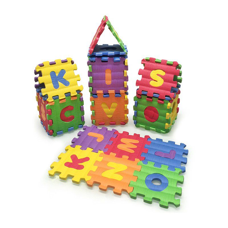 Tapete Castelo Eva Bebê Infantil ABC + NUM.  8x8cm Kit 26 peças - Loja Portal