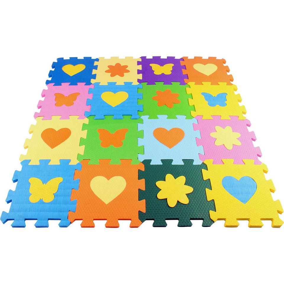 Tapete Eva Soft Bebê Infantil 15x15cm Kit 16 peças com peças destacáveis - Loja Portal