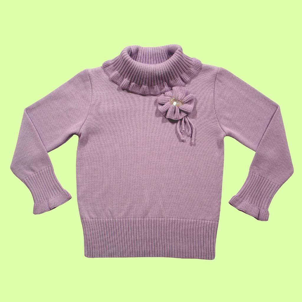 Sweater gola canelada com flor  - Loja Noruega