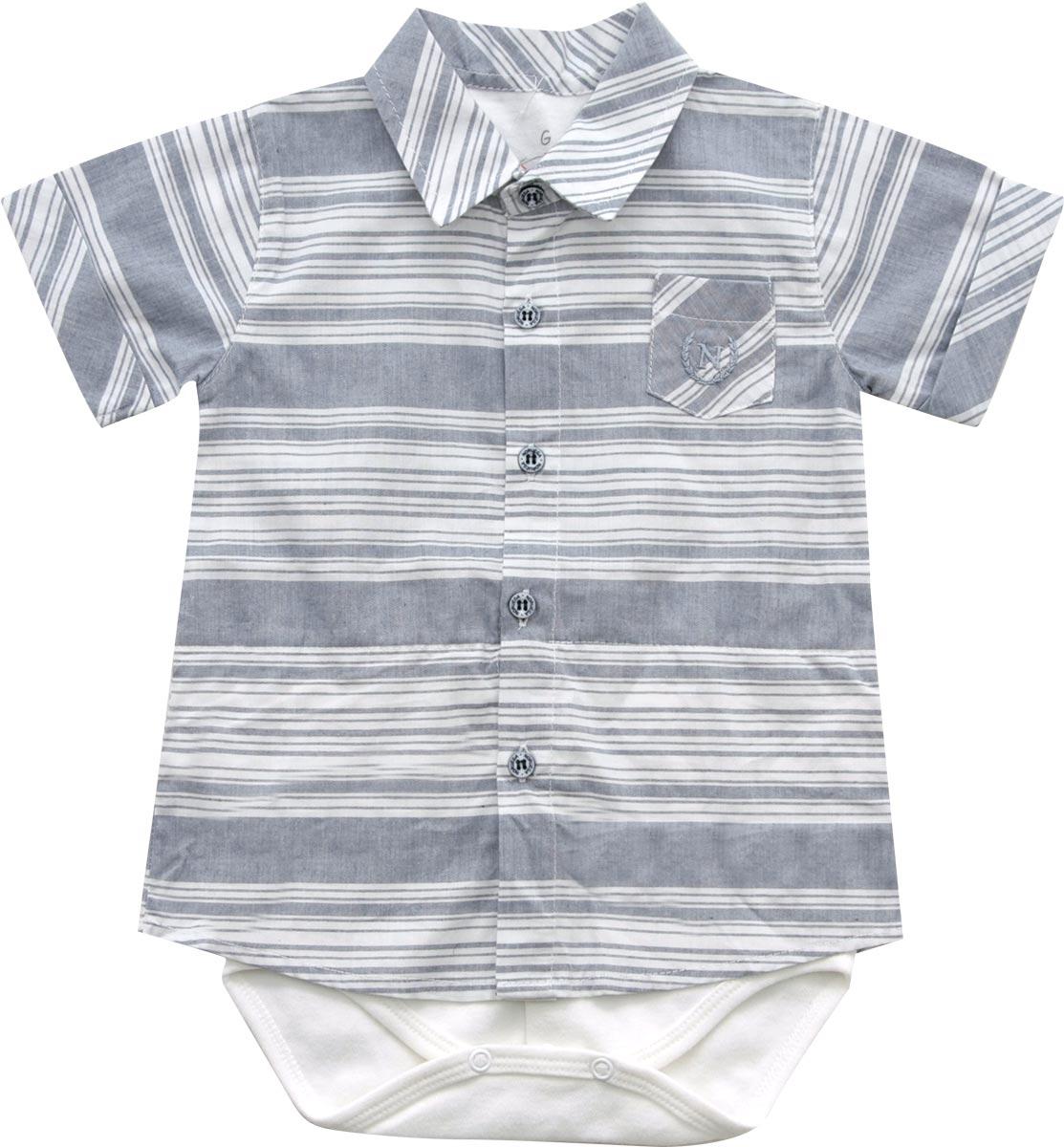 10.503 - Body com Camisa Listrada Bicolor