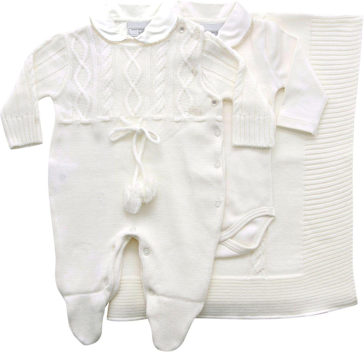 11.460 - Saída Maternidade Tranças com Body e Pompom