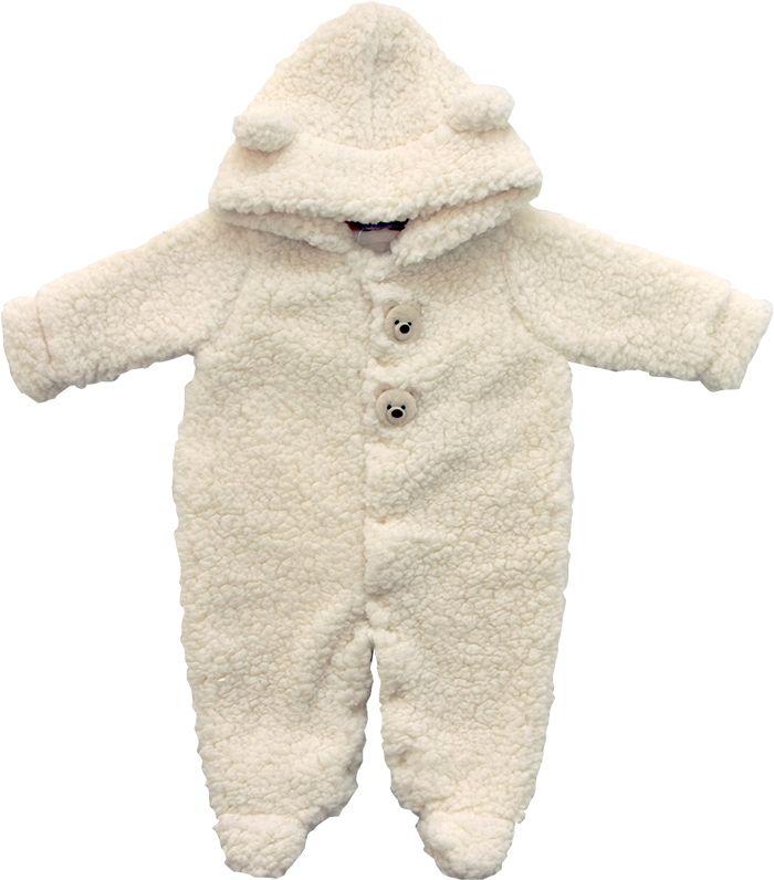 12.0012 - Macacão de Urso Pele Forrado com Capuz