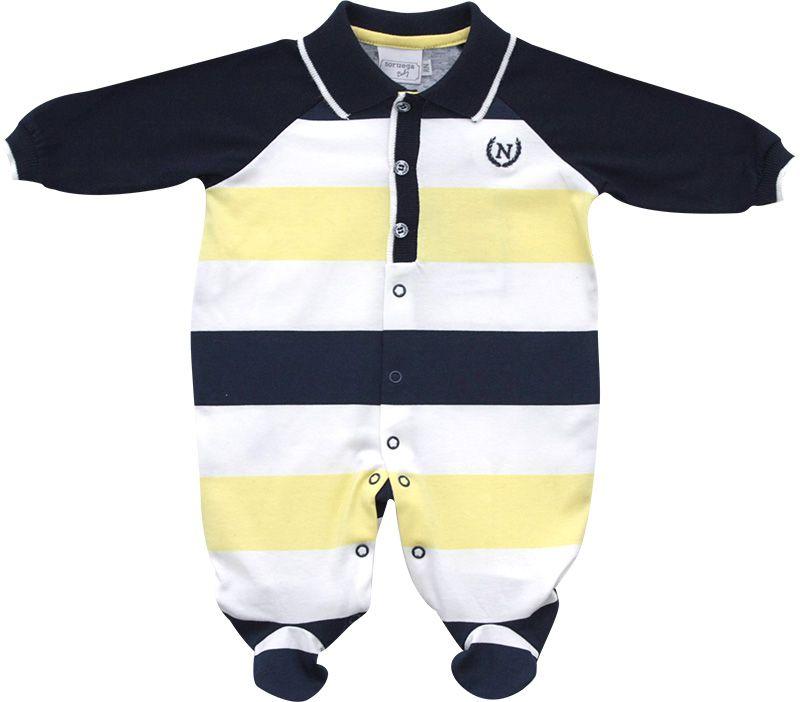 12.0153 - Macacão Cotton Polo Listras Regulares