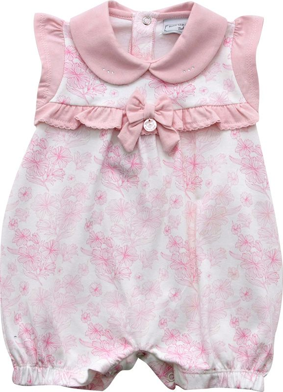 12.0165 - Macacão Curto Cotton Silk Floral