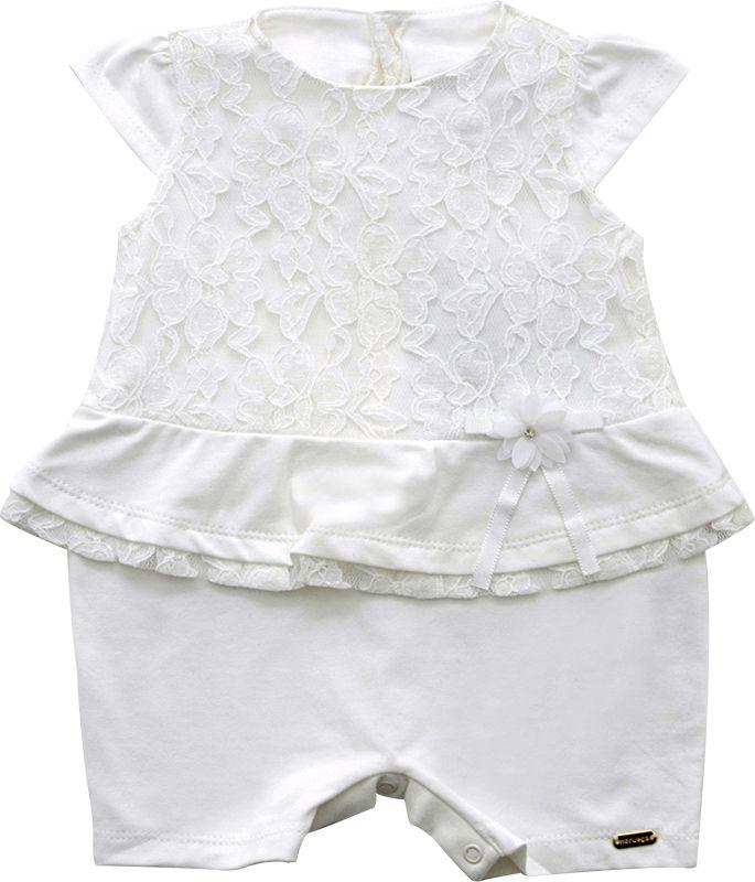 12.0168 - Macacão Curto Cotton com Renda