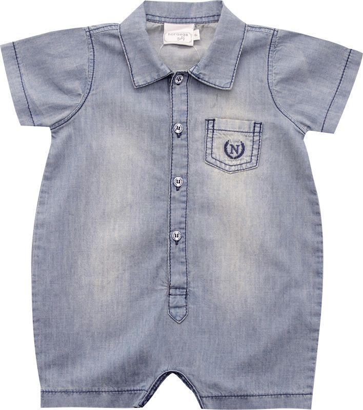 12.0177 - Macacão Curto Jeans