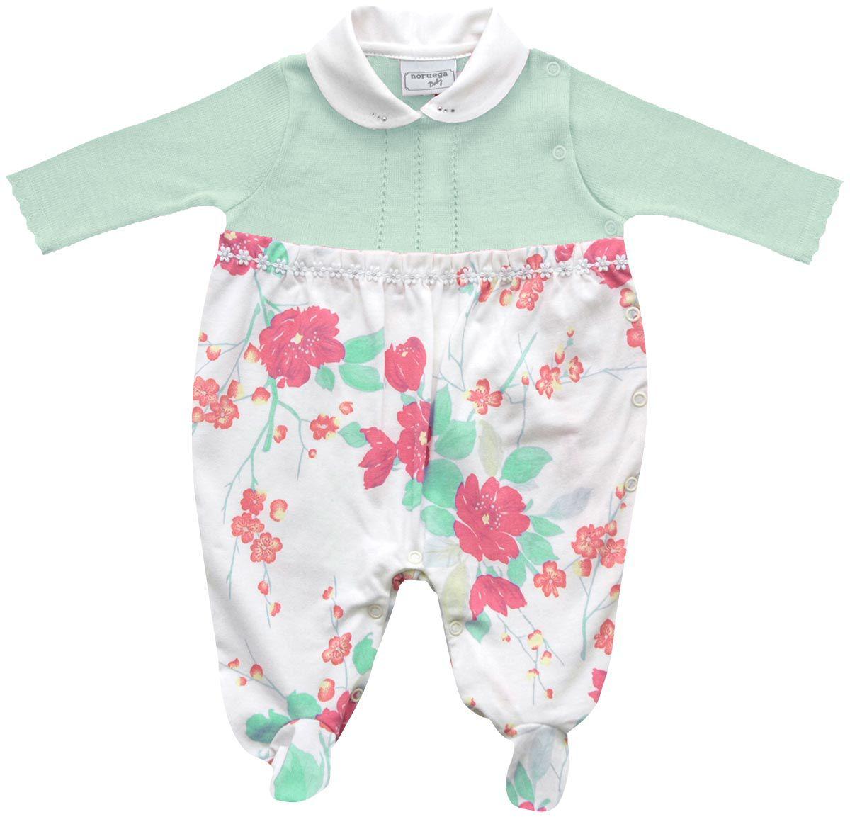 12.0295 - Macacão Cotton Floral