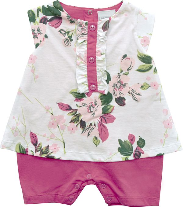 12.892 - Macacão Curto Silk Floral