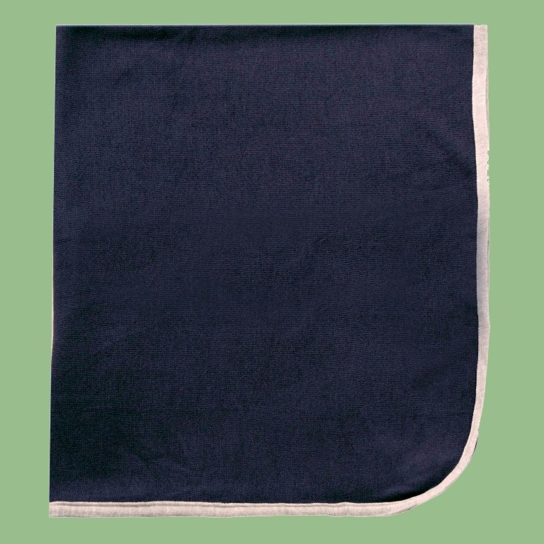 Manta Lisa Azul Marinho