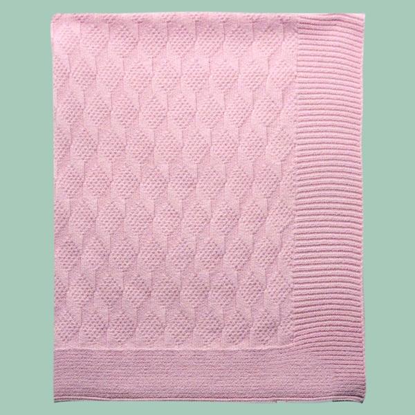 Manta Ponto Geométrico Rosa