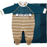 11.590 - Saída Maternidade Jacquard com Ovelhas