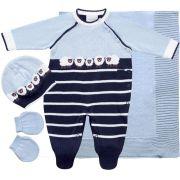 11.590A - Kit Maternidade Jacquard com Ovelhas
