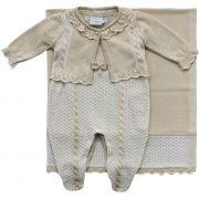 11.619 - Saída Maternidade com Casaco Tranças