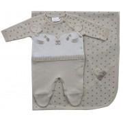 11.761 - Saída Maternidade Jaquard Onça