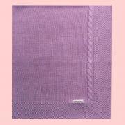 Manta com Tranças Violeta