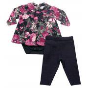 20.401 - Conjunto de Body com Vestido Floral