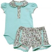 20.471 - Conjunto de Body c/ Silk Mini Flores