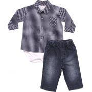 20.509 - Conjunto Body Camisa Xadrez