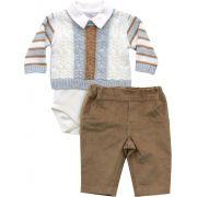 20.668 - Conjunto Body Sweater Tranças e Listras