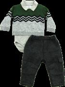 20.727 - Conjunto Body Sweater Jacquard Chevron