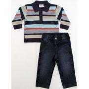 21.704 - Conjunto Jeans Polo