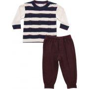 21.763 - Conjunto Sweater com Listras