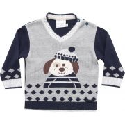 51.320 - Sweater com Jacquard Cachorrinho