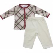 61.231EX - Conjunto Pijama c/ Plush Xadrez