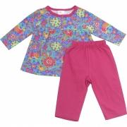62.107EX - Conjunto Pijama Silk Colorido