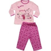 62.210 - Conjunto Pijama com Silk Cachorrinho